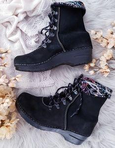 Dansko Suede Wool Fold Down Ankle Boots